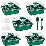 Fengaim Vassoio di avviamento per piantine, confezione da 5 vassoi per germinazione di sem...