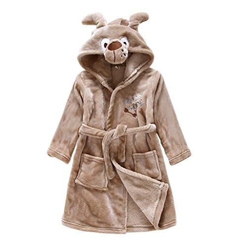 Baby badjas met capuchon jongens meisjes nachtkleding voor kleine kinderen 120cm/3-4 Jahre C