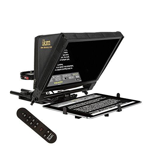 IKAN PT-Elite-PRO-RC Elite Universal Large Tablet und Apple iPad Pro Teleprompter mit Remote schwarz