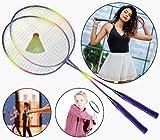 O&W Security Lot de 2 raquettes de badminton avec balle à ressort Idéal pour toute la famille Vacances Jardin Plage Bonne qualité