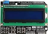 Movilideas - 1602 LCD Keypad Shield HD44780 1602 Modulo de 2x16 caracteres compatible con Arduino