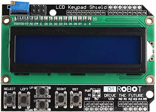 Fologar modulo display LCD blu Display 1602pulsantiera tastiera Arduino Shield robótica