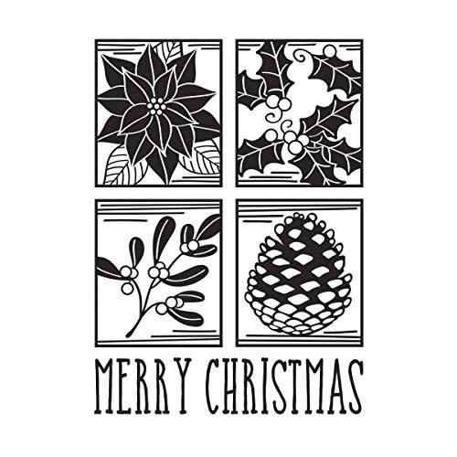 Darice 30008379 Embossing Folder-Classeur de Gaufrage-Modèle Carrés de Noël-10,8 x 14,6 cm, Plastique, Transparent, 10,8 x 14,6 x 0,3 cm