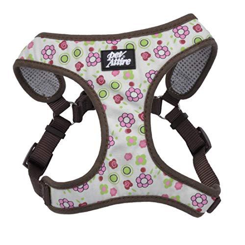 Coastal - Ribbon - Designer Wrap Adjustable Dog Harness, Floral Rose, 5/8