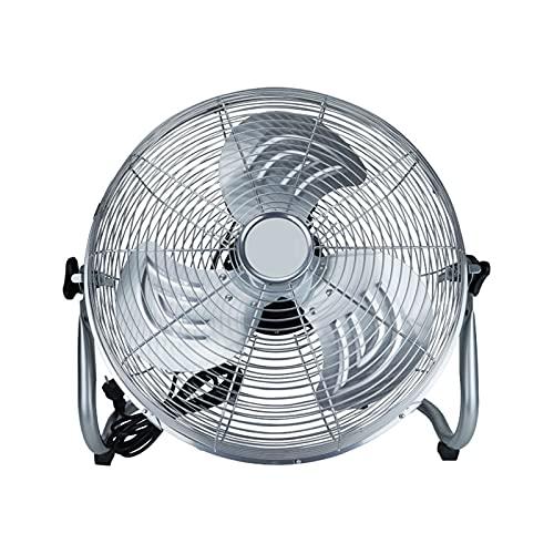 IINSSDJ Ventilador De Piso Industrial De 45 Cm, Ventiladores Portátiles De Alta Velocidad De 3 Velocidades para Trabajo Pesado, para Garaje, Tienda, Almacén, Comercial