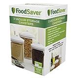 FoodSaver Vacuum Storange Canister Set, Round, 3-Pack, 6,5 х 6,5 х...