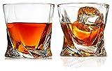 JIUYUE Vidrio de Whisky, Gafas escocesas de Cristal Transparente, 10 oz Tazas de cata de Cristal para Hombres y Mujeres Licorera