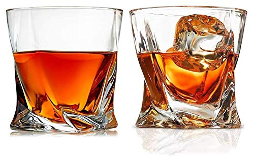 SoGuDio Decantador Vidrio de Whisky, Gafas escocesas de Cristal Transparente, 10 oz Tazas de cata de Cristal para Hombres y Mujeres Decantador de Whisky