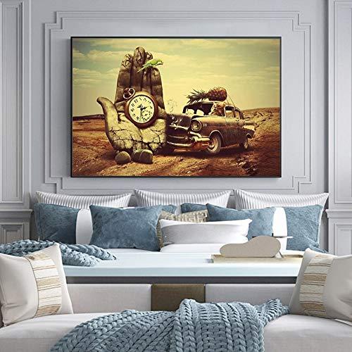 wZUN Pintura en Lienzo Surrealista, Carteles e Impresiones murales Famosos, Mural de decoración del hogar para Sala de Estar 60x80 Sin Marco