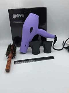 Move Air 9000 - Kit de secador profesional, color morado, cepillo de 43 mm, peine de carbono