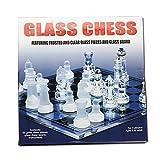 Faironly - Juego de ajedrez de Cristal Esmerilado, tamaño Mediano, 25 x 25 cm