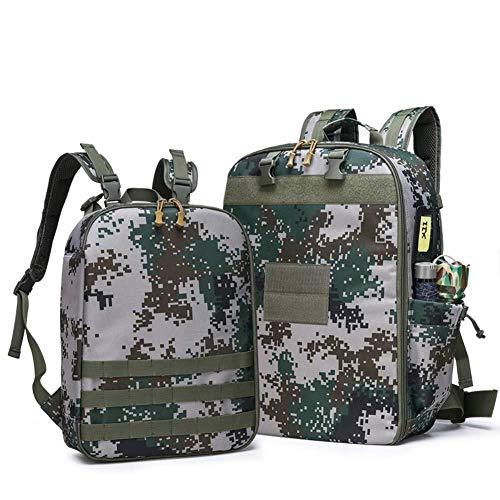 GOXJNG Medizin Box Set Tragbare Erste-Hilfe-Kit Rucksack Notfall Wasserdichtes Medizin Bag Oxford Cloth Außen Field Training Multifunktionale Supplies (Color : Camouflage)
