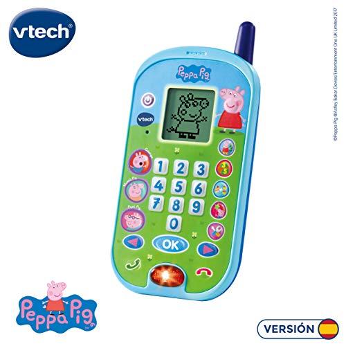VTech-El teléfono Peppa Pig Móvil Ectrónico Interactivo