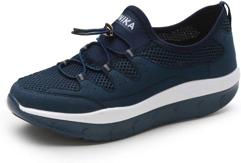 Female Mesh Breathable Slim Wedges Sneakers Women Platform Toning Comfortable Flat Health Walking shoes