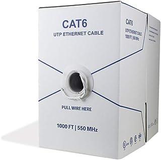 BV-Tech Cat6 Riser (CMR), 1000ft, 23AWG 4 Pair Solid Bare Copper, 550MHz, (UTP), ETL Listed, UL Listed, Bulk Ethernet Cabl...