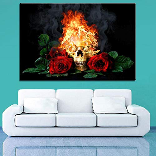 Woondecoratie nachtkastje achtergronddecoratie muur filmposter kunst 60x80cm (frameloos)