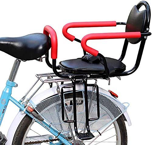 DKZK Fahrrad Kindersitz, Fahrradsitz, Abnehmbarer Kindersitz, Elektro- / FahrradrüCksitz Mit Antirutsch- Und Leitplankenpedalen, Geeignet FüR Kinder Von 2-6 Jahren
