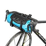 Roswheel 7L Bolsa de Bicicleta 100% a Prueba de Agua Bolsa de Manillar de Bicicleta Bolsa Delantera MTB Ciclismo de Carretera Bicicleta Tubo Delantero Cesta Alforjas Accesorios para Bicicletas Azul