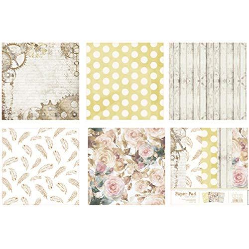 10 stks 6 Inch DIY Album Scrapbook Pads Papier Enkelzijdige Hand Account Kaart maken Achtergrond Papier Patroon Craft Scrapbooking, JJSW0006000C,China