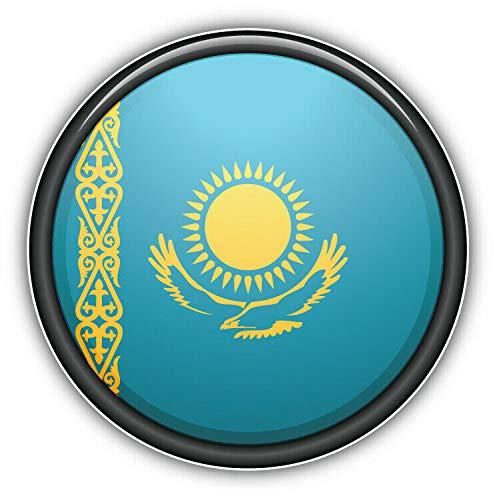 15cm! Klebe-Folie Wetterfest kompatibel für: Kasachstan Flagge Fahne H745 UV&Waschanlagenfest Auto-Aufkleber Sticker Decal
