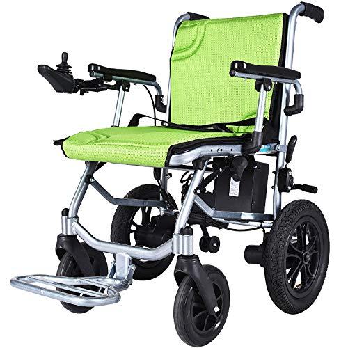 Elektrorollstuhl Faltbar, 360 ° Joystick Lithiumbatterie Elektro Mobilitätshilfe Elektrischer Rollstuhl mit Bürstenlosen 380-W-Motoren, Tragbare Ältere Behinderte Hilfe Auto,Kann ins Flugzeug steigen
