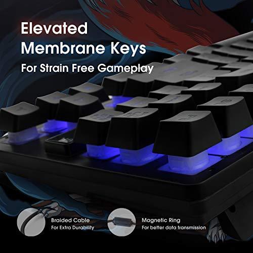 EvoFox Fireblade Gaming Wired Keyboard with LED Backlit, 19 Anti-Ghosting Keys and Windows Lock Key (TKL) (Black)