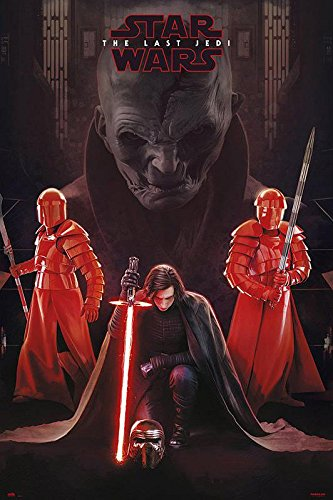 Star Wars Póster Episode 8: The Last Jedi - Snoke Leader (61cm x 91,5cm) + 1 póster Sorpresa de Regalo