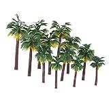 TOYMYTOY Palm Baum Modell Layout Regenwald Kunststoff Palme 12 Stücke Diorama Landschaft (die Farbe der Wurzel ist zufällig)