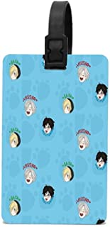 GTdgstdsc Yuri On Ice!!! Chibi Pattern Luggage Tag Travel ID Label Leather For Baggage Suitcase