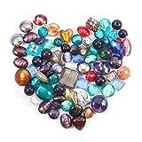 Perles de verre, rouge, bleu, perles Silverfoil, Panda Hall Lampwork Gemischte 5