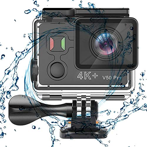 Dayangiii Action Camera Ambarella Chipset Ultra HD 4K+ 30fps Wi-Fi Underwater 12MP Motorcycle Camera Go 30M Waterproof Sports Cam