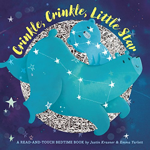 Crinkle, Crinkle, Little Star: Trace the Stars, Hear Them Crinkle (A Read-and-touch Bedtime Book) ⭐