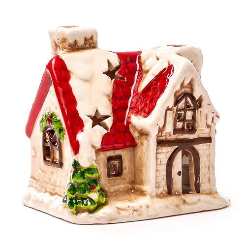 Seyko Windlicht Haus, Lichthaus, Teelichthalter Vintage/Retro, Weihnachten, Deko Haus, 10cm
