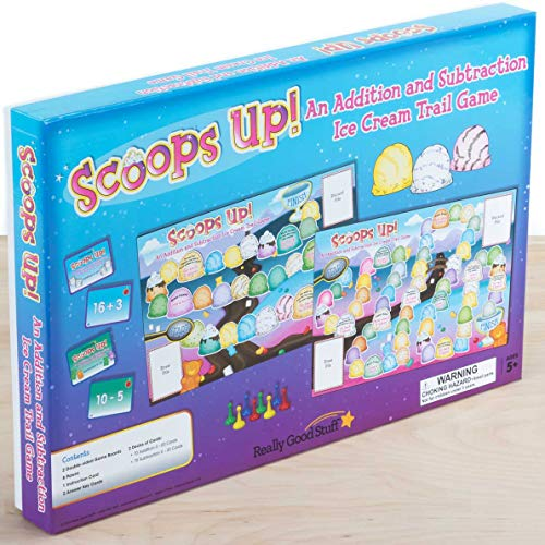 Really Good Stuff Scoops Up an Addition and Subtraction Ice Cream Trail Game