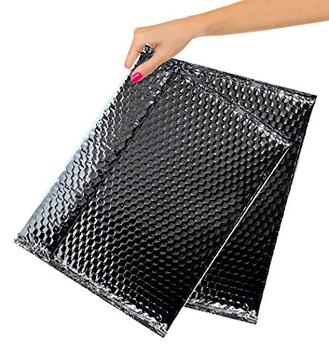 ABC Pack of 10 Metallic Black Bubble Mailers 13 x 10.5. Black Padded Envelopes 13 x 10 1/2. Bubble Peel and Seal Mailers. Padded Shipping Bags for Shipping, Packing, Packaging. Wholesale Price