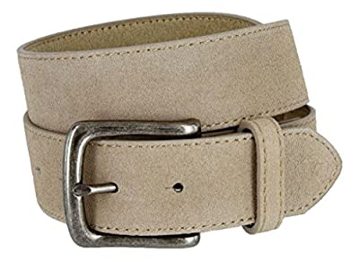 Casual Jean Genuine Suede Leather Belt for Women (Tan, 34)