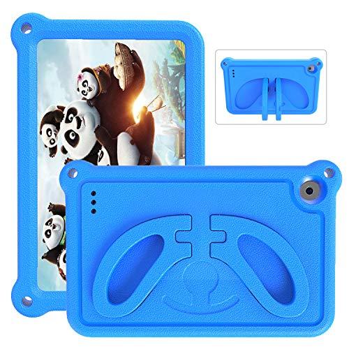2019 Tablet 7 Case for Kids- SHREBORN Non-Slip/Shockproof/Ultra Light Kids Friendly Tablets Cover with Stand for 7 inch Tablet(2019 & 2017 &2015)- Blue