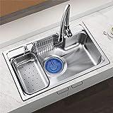HomeLava Lavelli da cucina Vasca singola Lavello incasso Impianti per la cucina (rubinetto non incluso, 78 * 48 * 21cm)