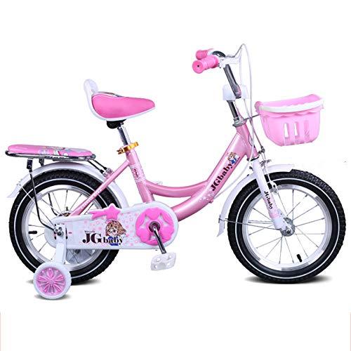 Bicicleta De 18 Pulgadas Para Niñas Y Niños, De 5 A 8 Años, Bicicleta De Equilibrio BMX, Bicicletas Para Niños, Ruedas De Entrenamiento, Llantas Neumáticas, Bicicleta Para Damas De Ciudad,Rosado