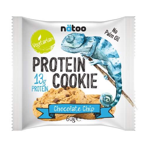 NATOO Protein Cookie, Chocolate Chip - 14 Biscotti da 60 g