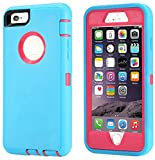 Annymall Case Compatible for iPhone 8 & iPhone 7, Heavy Duty [with Kickstand] [Built-in Screen Protector] Tough 4 in1 Rugged Shorkproof Cover for Apple iPhone 7 / iPhone 8 (Mint)