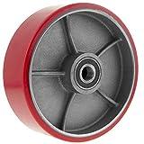 PrimeMatik - Ruota per transpallet Rullo per pallet di poliuretano 180x50 mm 900 Kg