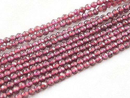 Beads Ok, DIY, Garnet, Rojo, Genuino, Naturales, 3mm Abalorio Cuenta Mostacilla o...