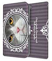 apple iPhone 12 Pro (iPhone12Pro) 用 手帳型 ケース NYAGO ボタニカルリース 猫 ペロペロだにゃ にゃに見てるんだにゃ? 2665-77 スマホケース カバー 薄型 軽量 ストラップホール