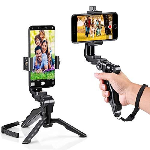 Eighty trípode Grip estabilizador mini Smartphone-Ergonómico giratorio Smartphone Handheld Grip estabilizador Estabilizador Gimbal para Smartphones-Filming Grip Vlogging Trípode