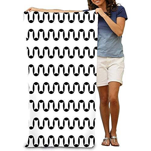 chillChur-DD Bath Towel Asciugamano da Bagno Morbido Telo Mare Grande Geometria Unica Astratta Moderna Geometria Nizza Nero Bianco Geometrica Sottile Cuscino Lenzuolo Design Kawaii