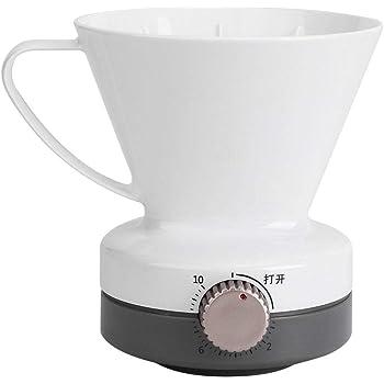Fdit Pour Over Coffee Dripper con función de sincronización Filtro de café de goteo lento Cafetera blanca reutilizable para cafetería familiar y restaurante West: Amazon.es: Hogar