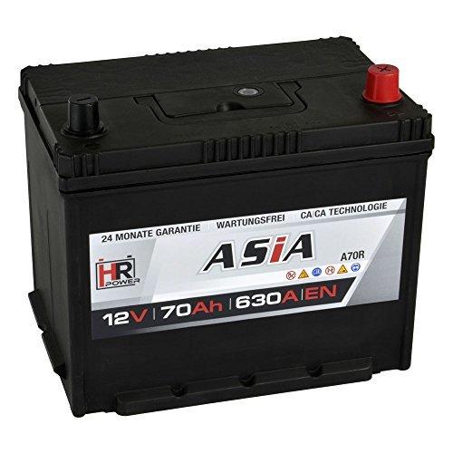 Preisvergleich Produktbild HR HiPower ASIA Autobatterie 12V 70Ah Japan Pluspol Rechts Starterbatterie ersetzt 50Ah 65Ah 70Ah 80Ah