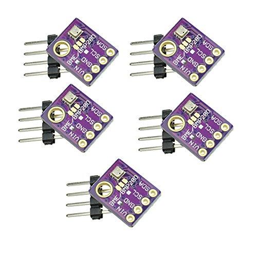 GY-bme280 High Precision Digital Sensor barometrischer Druck Temperatur Luftfeuchtigkeit und Luftdruck Modul Board für Arduino Raspberry Pi DIY I2 C SPI 5V (5PCS)