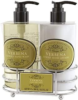 Naturally European - Luxury Hand Wash & Hand Lotion - Hand Care Caddy - Verbena